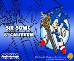 Puzzle Sir Sonic, Sonic avec l'épée d'un chevalier