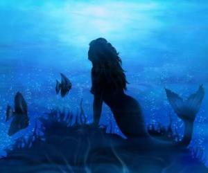 Puzzle Sirène sur les fond marin