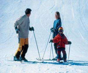 Puzzle Ski en famille