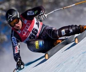 Puzzle Skieur alpin pratiquant une descente