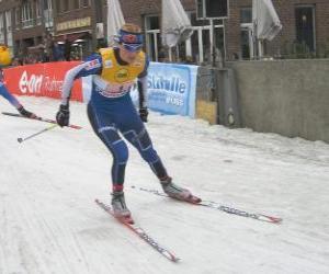 Puzzle Skieur de ski de fond