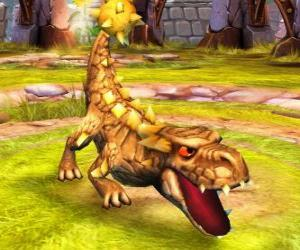 Puzzle Skylander Bash, le dinosaure redoutable. Skylanders Terre