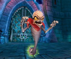 Puzzle Skylander Ghost Roaster, une créature qui mange les fantômes méchants. Skylanders Morts vivants