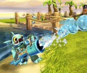 Puzzle Skylander Gill Grunt, une créature qui ne laisse jamais échapper sa proie. Skylanders Eau