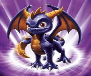 Puzzle Skylander Spyro, le dragon est un adversaire redoutable qui peut voler et tirer le feu de la bouche. Skylanders Magie