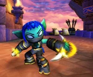 Puzzle Skylander Stealth Elf, le guerrière ninja. Skylanders Vie