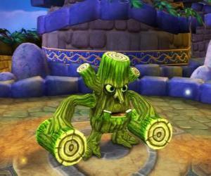Puzzle Skylander Stump Smash, la créature marteau a des bûches au lieu de bras. Skylanders Vie