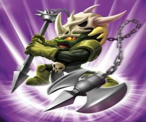 Puzzle Skylander Voodood, brave guerrier. Skylanders Magie