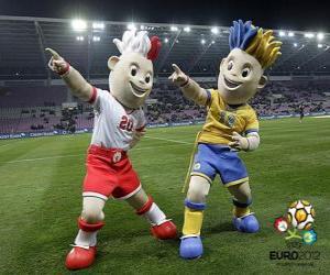 Puzzle Slavek et Slavko - UEFA Euro 2012 -