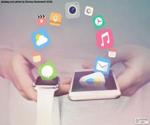 Puzzle SmartWatch et smartphone