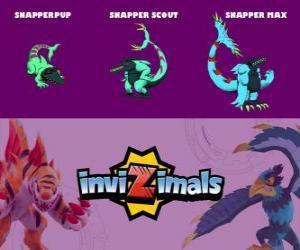 Puzzle Snapper en trois phases Snapper Pup, Snapper Scott et Snapper Max, Invizimals