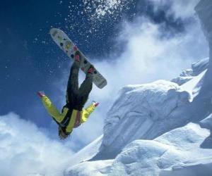 Puzzle Snowborder dans un saut