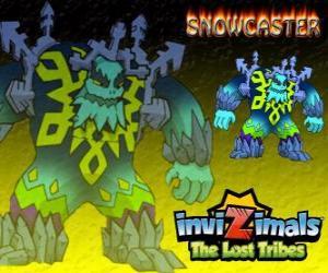 Puzzle Snowcaster. Invizimals The Lost Tribes. Le Seigneur suprême de le glace, un sage mystique et puissant qui vit dans les glaciers