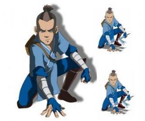 Puzzle Sokka est un guerrier de 15 ans de la tribu de l'Eau du Sud qui va avec Aang
