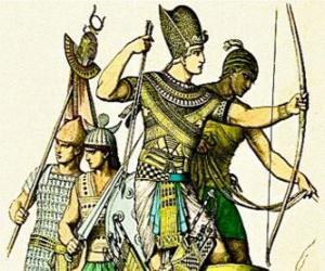 Puzzle Soldat égyptien avec un arc