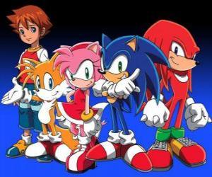 Puzzle Sonic et d'autres personnages de jeux vidéo Sonic