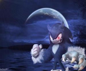 Puzzle Sonic the Werehog, la dernière transformation de Sonic, la nuit il se transforme en loup hérisson