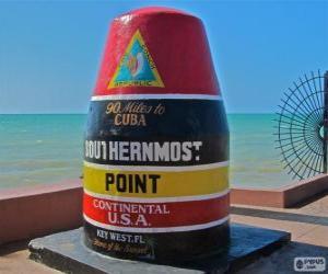 Puzzle Southernmost Point, (Point le plus méridional), Key West, Floride, États-Unis