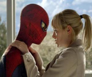 Puzzle Spider-Man avec Gwen Stacy