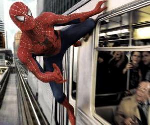 Puzzle Spider Man en action