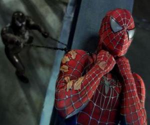 Puzzle Spiderman pris ou Venom