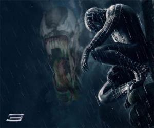 Puzzle Spiderman Venom partage avec plusieurs de ses pouvoirs et de capacités