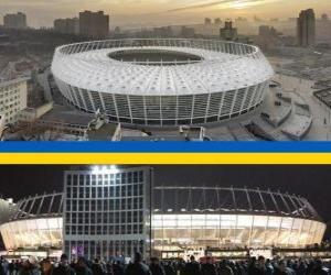 Puzzle Stade olympique de Kiev (69.055), Kiev - Ukraine