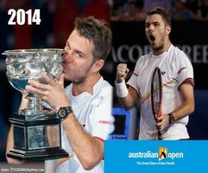 Puzzle Stanislas Wawrinka champion Open Australie 2014