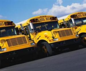 Puzzle Stationnement d'autobus scolaires