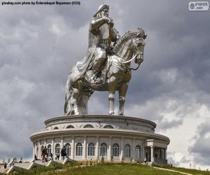 Puzzle Statue équestre de Gengis Khan, Mongolie