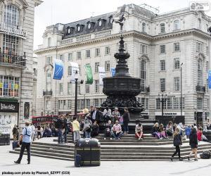 Puzzle Statue d'Eros, Londres