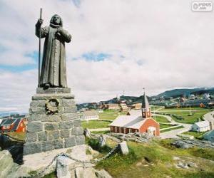 Puzzle Statue de Hans Egede, Nuuk, Groenland
