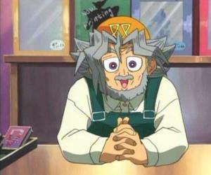 Puzzle Sugoroku Muto ou Salomon Muto est le grand-père de Yugi e le propriétaire d'un magasin de jeux de société