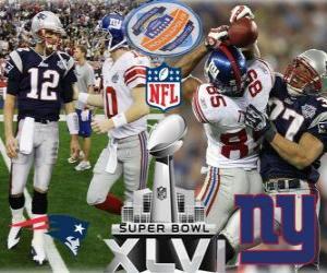 Puzzle Super Bowl XLVI - New England Patriots vs New York Giants