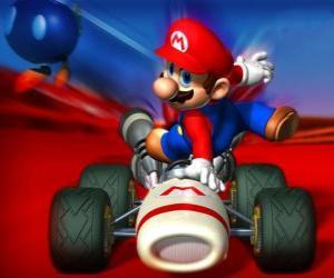 Puzzle Super Mario Kart est un jeu de course