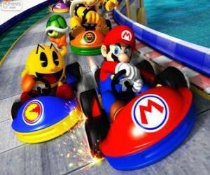 Puzzle Super Mario Kart
