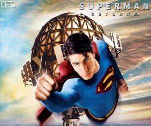 Puzzle Superman, le super-héros battant