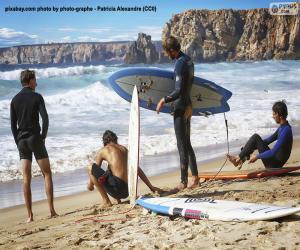 Puzzle Surfers sur la plage