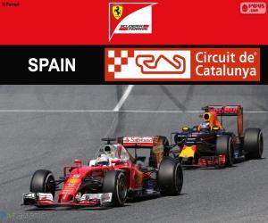 Puzzle S.Vettel, G.P d'Espagne 2016