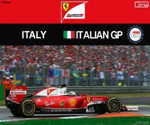 Puzzle S.Vettel, G.P. Italie 2016