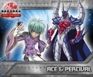 Puzzle Swemco Ace et Bakugan Percival