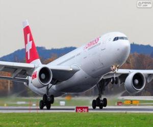 Puzzle Swiss International Air Lines, est la principale compagnie aérienne suisse