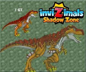Puzzle T-Rex. Invizimals Shadow Zone. Le puissant T-Rex est un dinosaure Invizimal