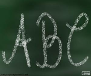 Puzzle Tableau noir, ABC