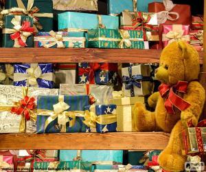 Puzzle Tablettes pleines de cadeaux