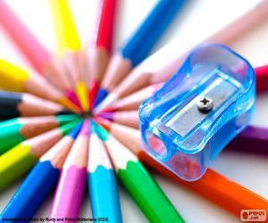 Puzzle Taille-crayon en plastique