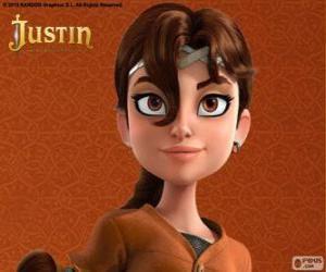 Puzzle Talia est camarade d'aventures de Justin