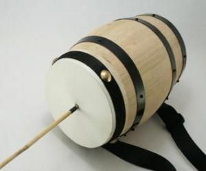 Puzzle Tambour à friction, instrument de percussion typique à Noël