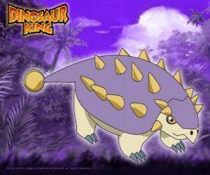 Puzzle Tank, Saika. Ce dinosaure Saichania est détenu par Ed de le Gang Alpha