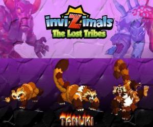 Puzzle Tanuki, dernière évolution. Invizimals The Lost Tribes. Invizimal puissant avec une grande confiance en soi